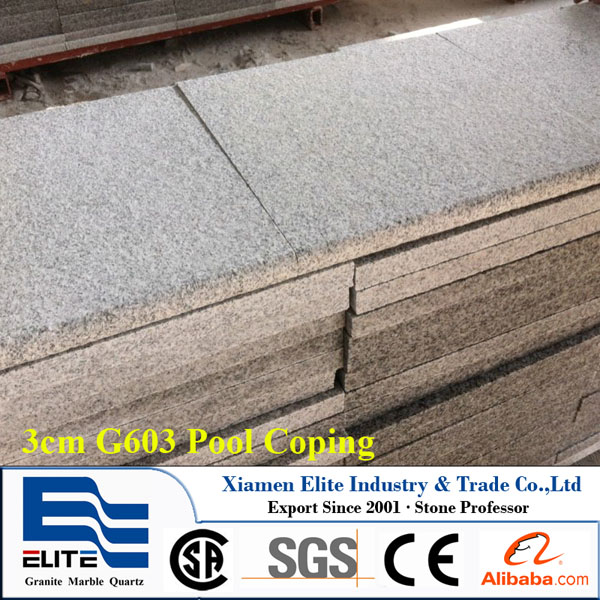 3cm G603 Bianco Crystal Granite Pool Coping