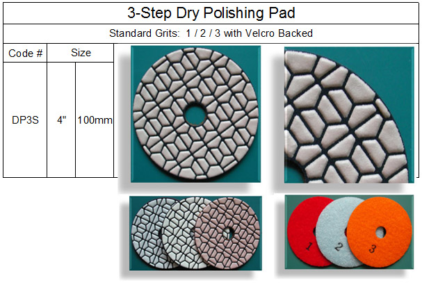 3 Step Dry Polishing Pad