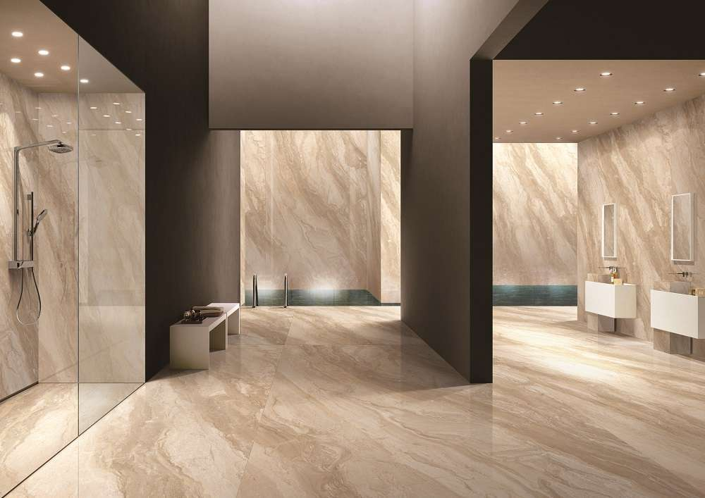 dino beige porcelain slab floor tiles