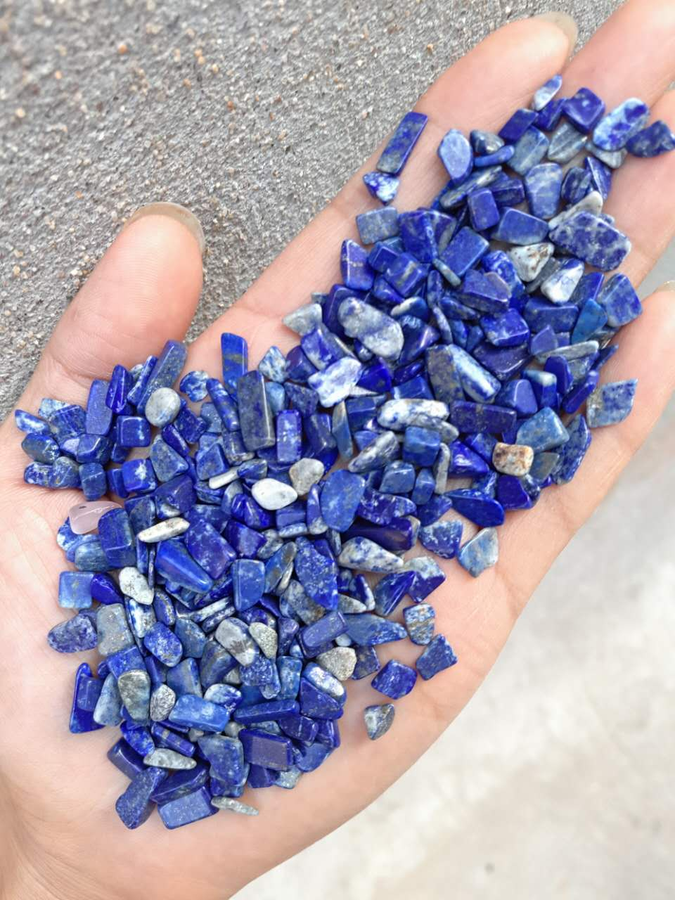 Luxury Natural Gemstones Lapis Lazuli Tumbles Blue Gravel and Pebbles Stone