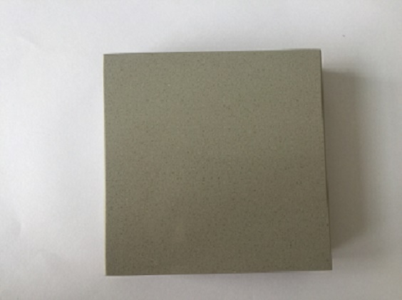 Pure gray color quartz slabs for kitchen countertops