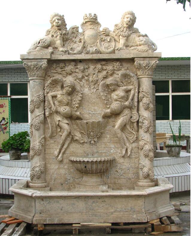 Stone Wall Fountain Garden Water Fountain