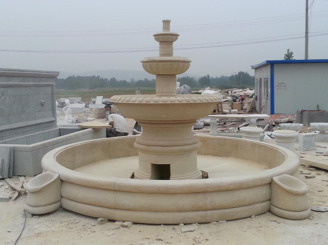Carved stone water fountain garden water feature