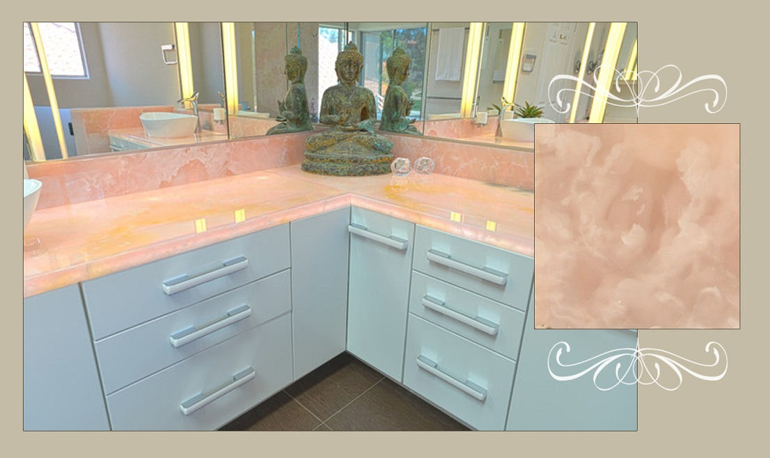Pink Onyx Bathroom Vanity Tops