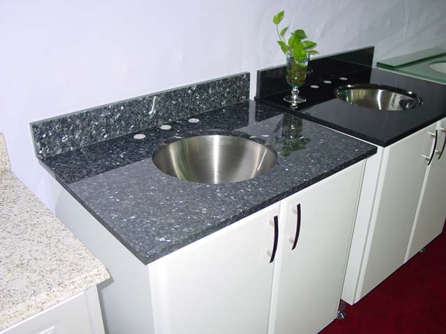 high quality black granite kitchen countertop vanity sink