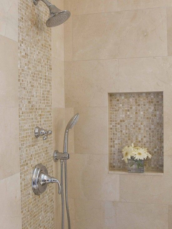 Beige mosaic for wall