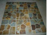 Square mats paving stone