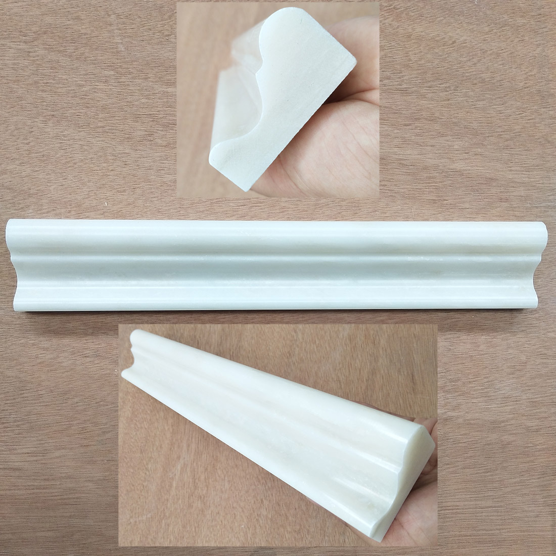 Marble White Building Wall Crown Molding White Marble