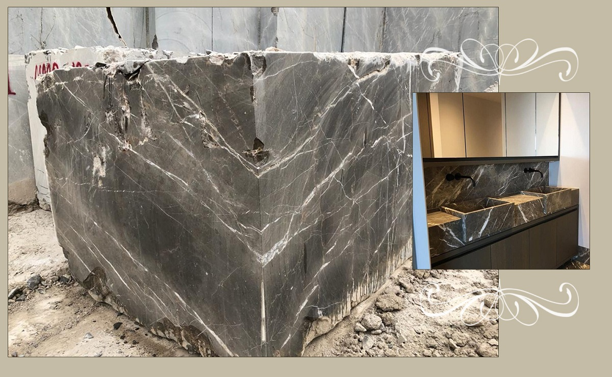 Dorsa Grey Marble Natural Blocks