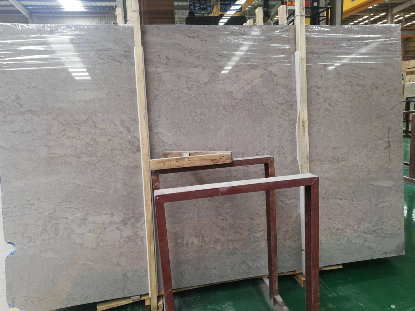 China pure grey marble slab