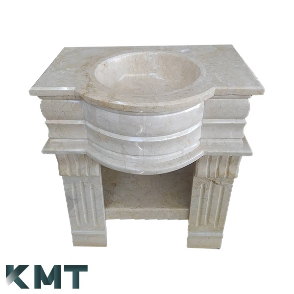 Pedestal Sink  Stone Basin S-15003