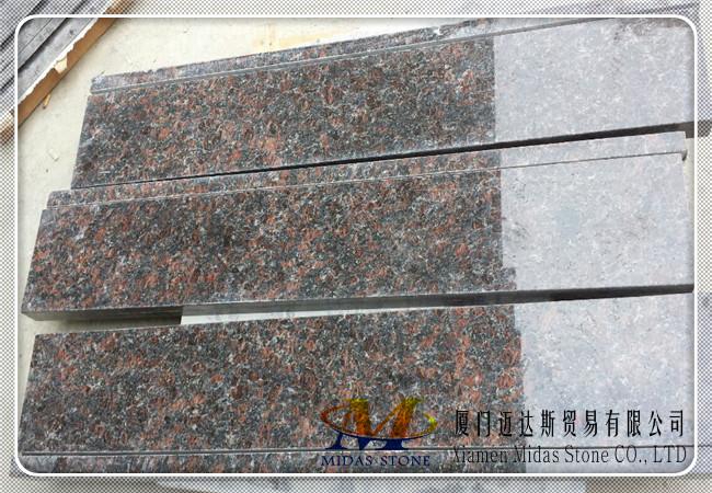 Tan Brown Granite Stairs