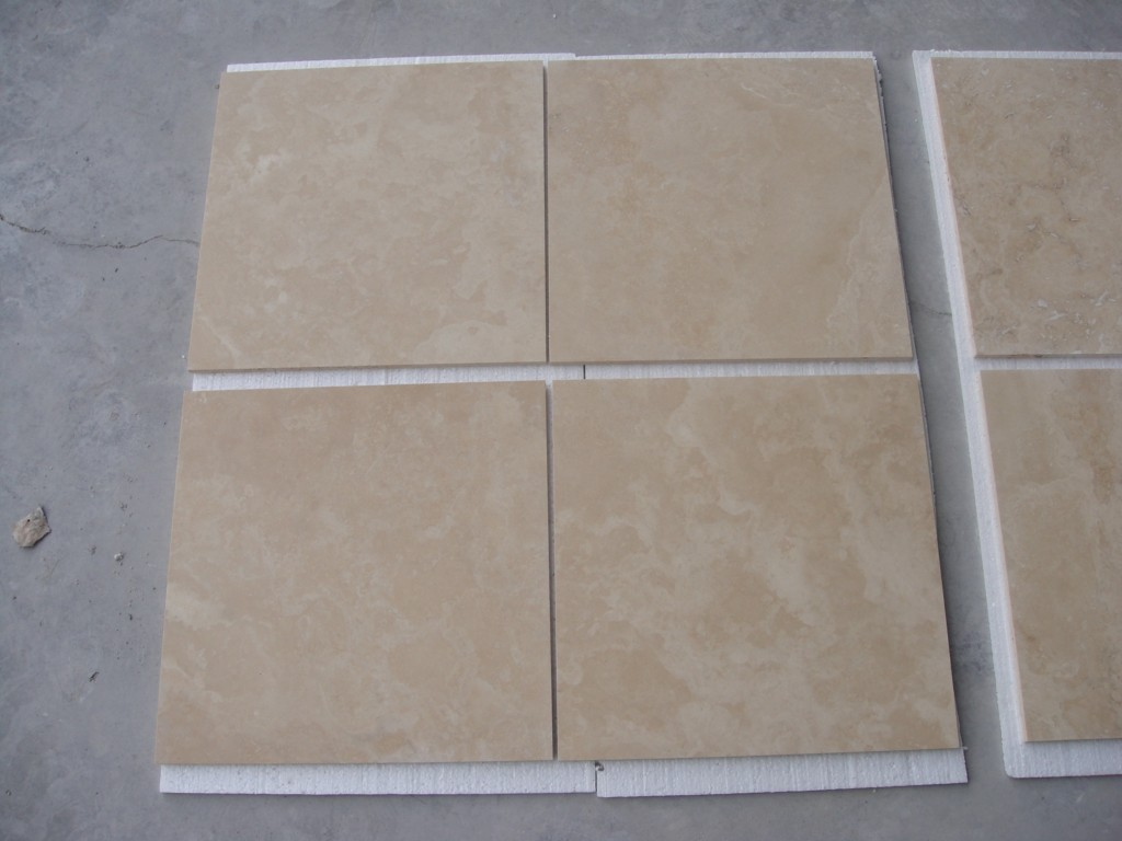 Trv Vein Cut Premium light Travertine Tiles