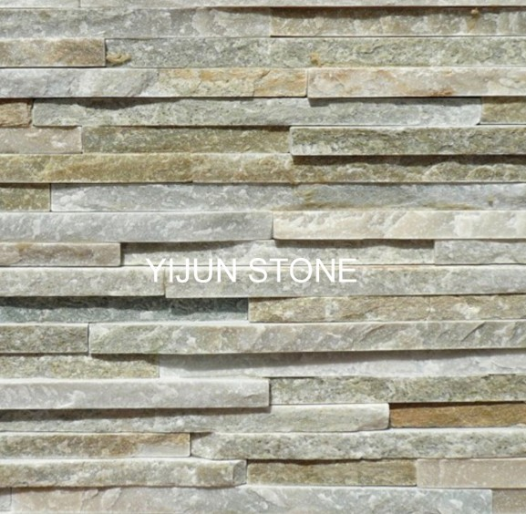 Beige Cultured Stone Split Surface Waterfall Wall Caldding Wall Panel Hebei China