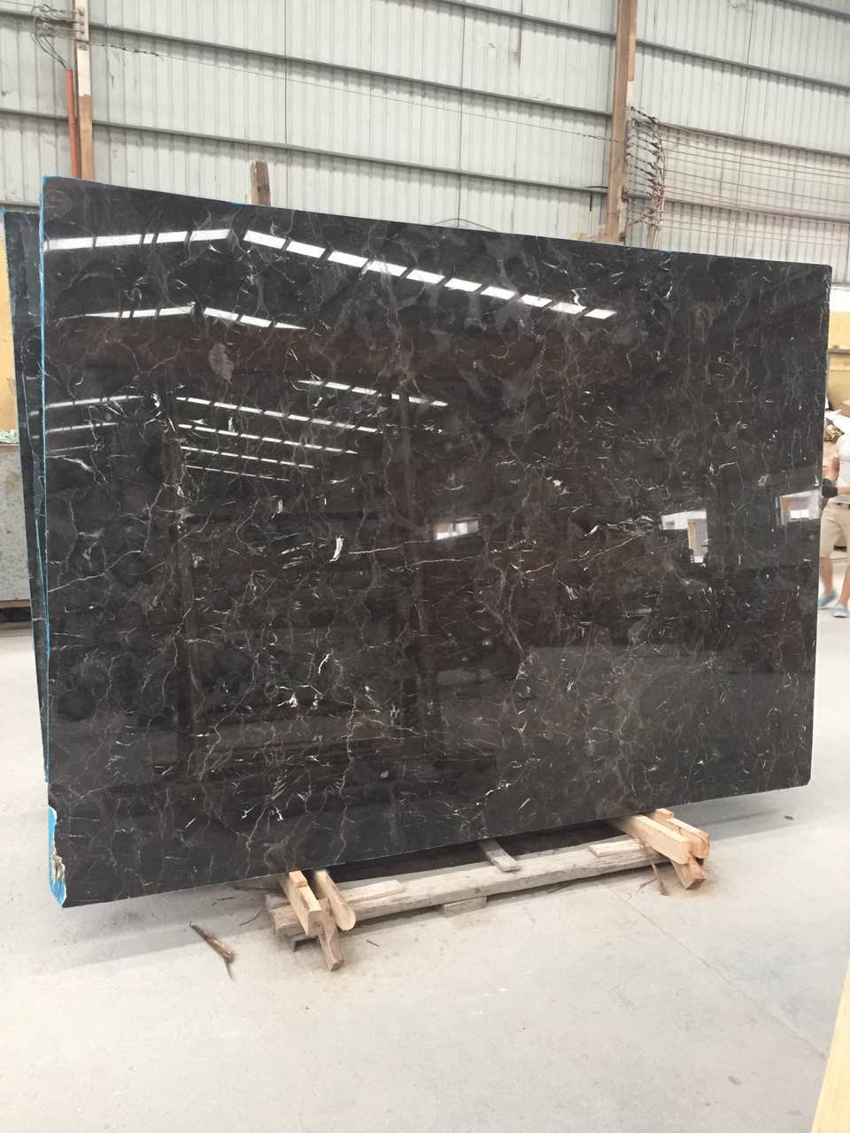 China Dark Emperador Marble Polished Slabs