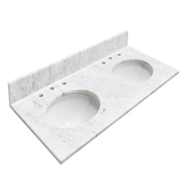 48 Bianco Carrara Marble Top