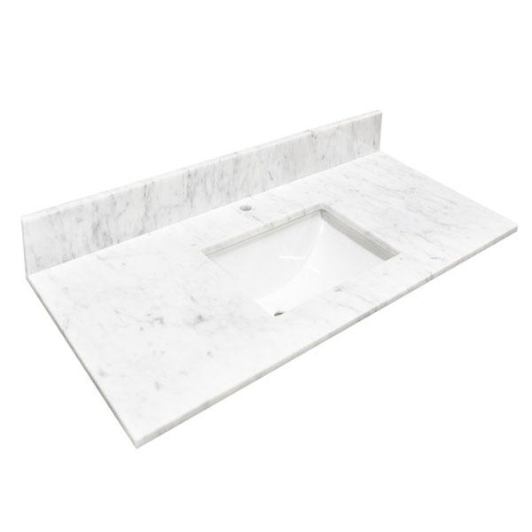 48 Bianco Carrara Marble Countertop