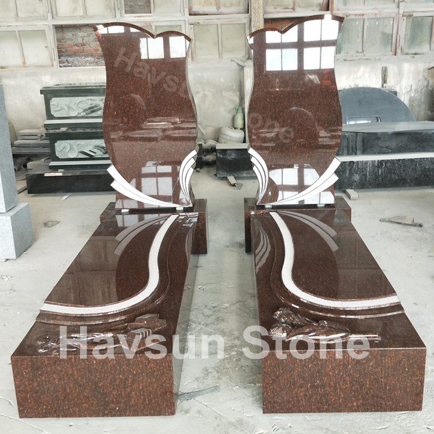 Cat Eye Red GraniteJews Tombstone Monuments