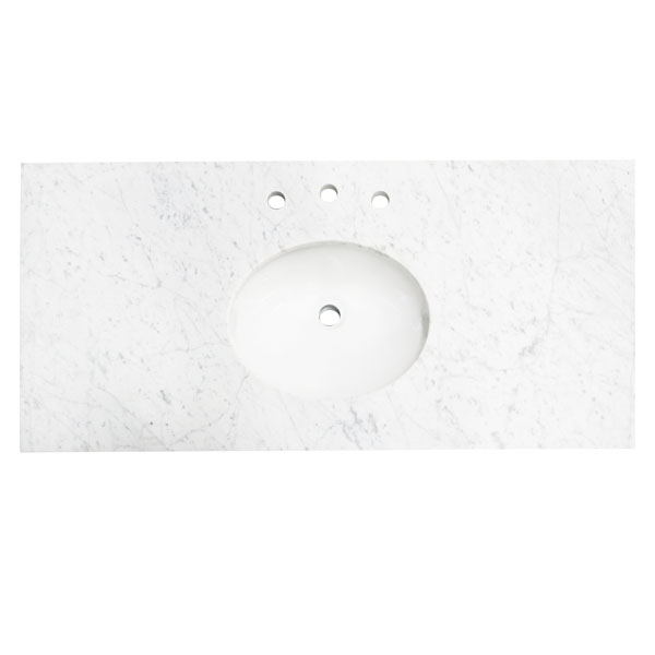 48White marble counter tops
