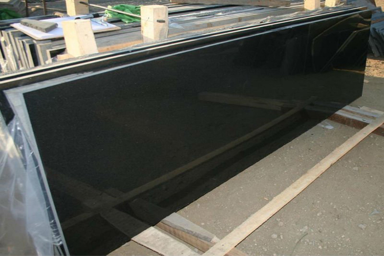 Polished Shanxi Black Granite Engineering Slab