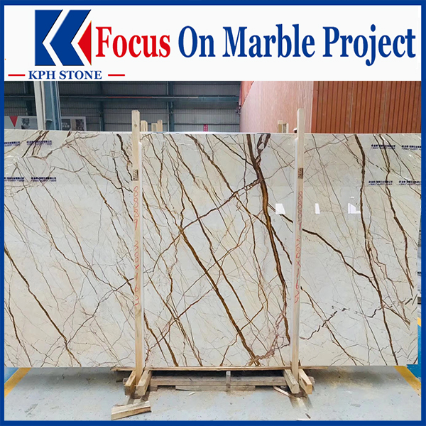 Dragon Gold Marble Floors Walls Tiles Slabs For Grand Hyatt Hong Kong