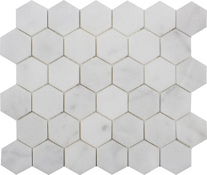 White Hexagon Mosaic