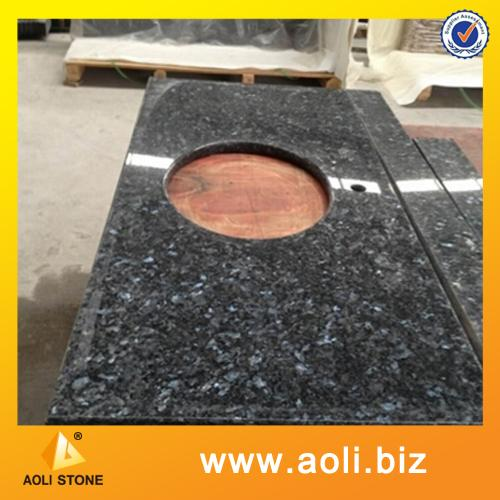 Blue pearl granite vanity top for bathroom