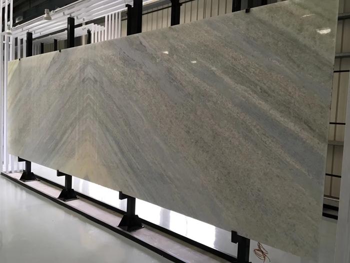 Display rack for bookmatch big slabs in showroom