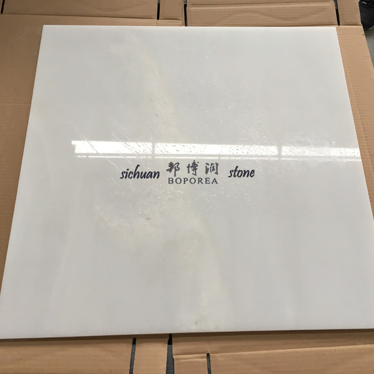 2017 hot sale white glazed marble tile