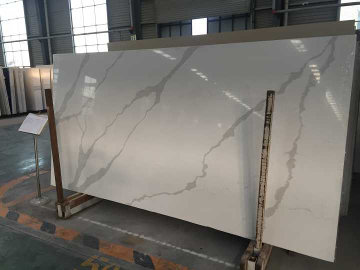 Calacatta artificial quartz slabs for vanity countertops