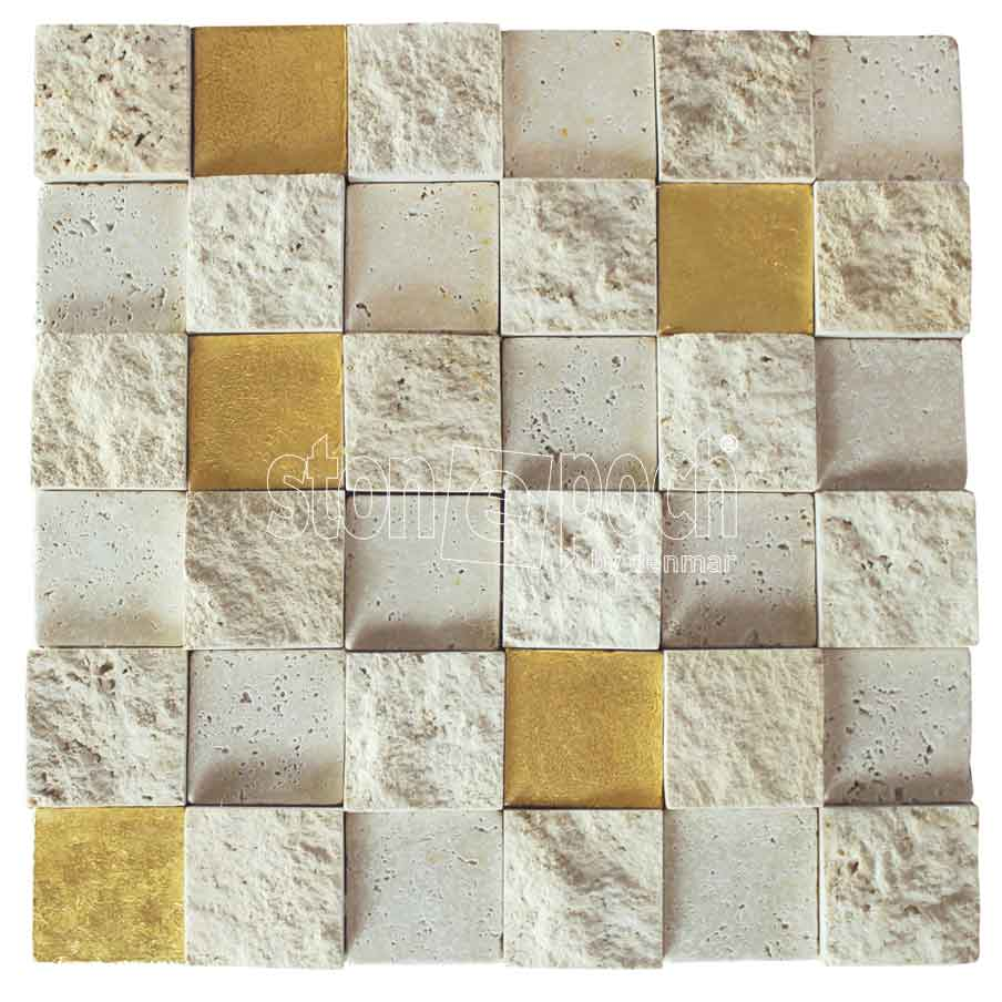 LIGHT TRAVERTINE and GOLD