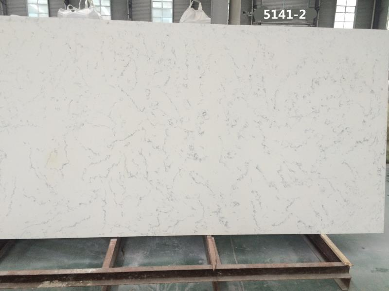Carrara color quartz stone slabs