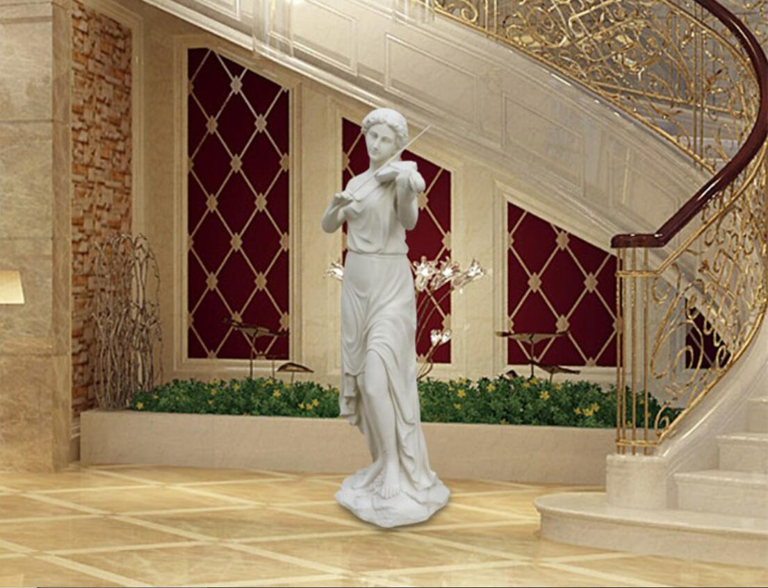 Carved marble statue for home decoration