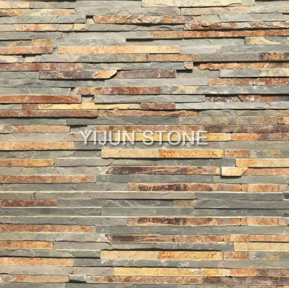Natural Surface Rusty Cultured Stone Wall Caldding Ledge Hebei Province Stone Factory China