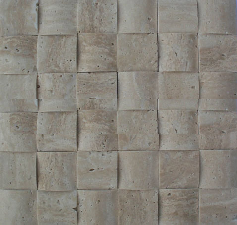 3D travertine mosaic
