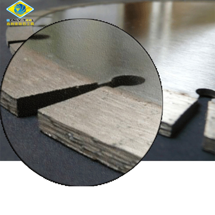 Sharp fast cutting diamond segment for stone