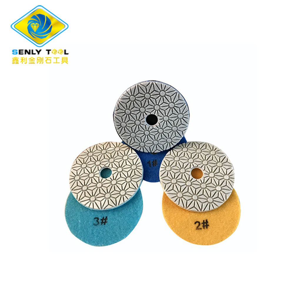 3 Step Wet and Dry Polishing Pads for Stone Polish