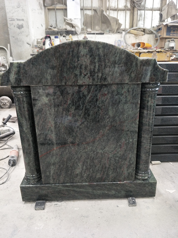 Tropical Green Granite Tombstone