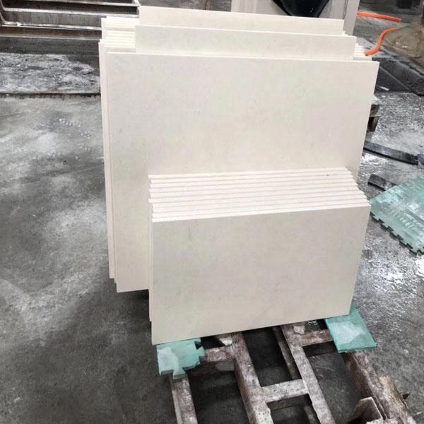 White limestone polished