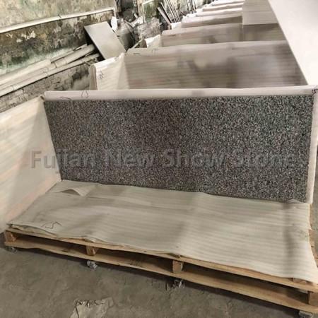 Grey granite countertop