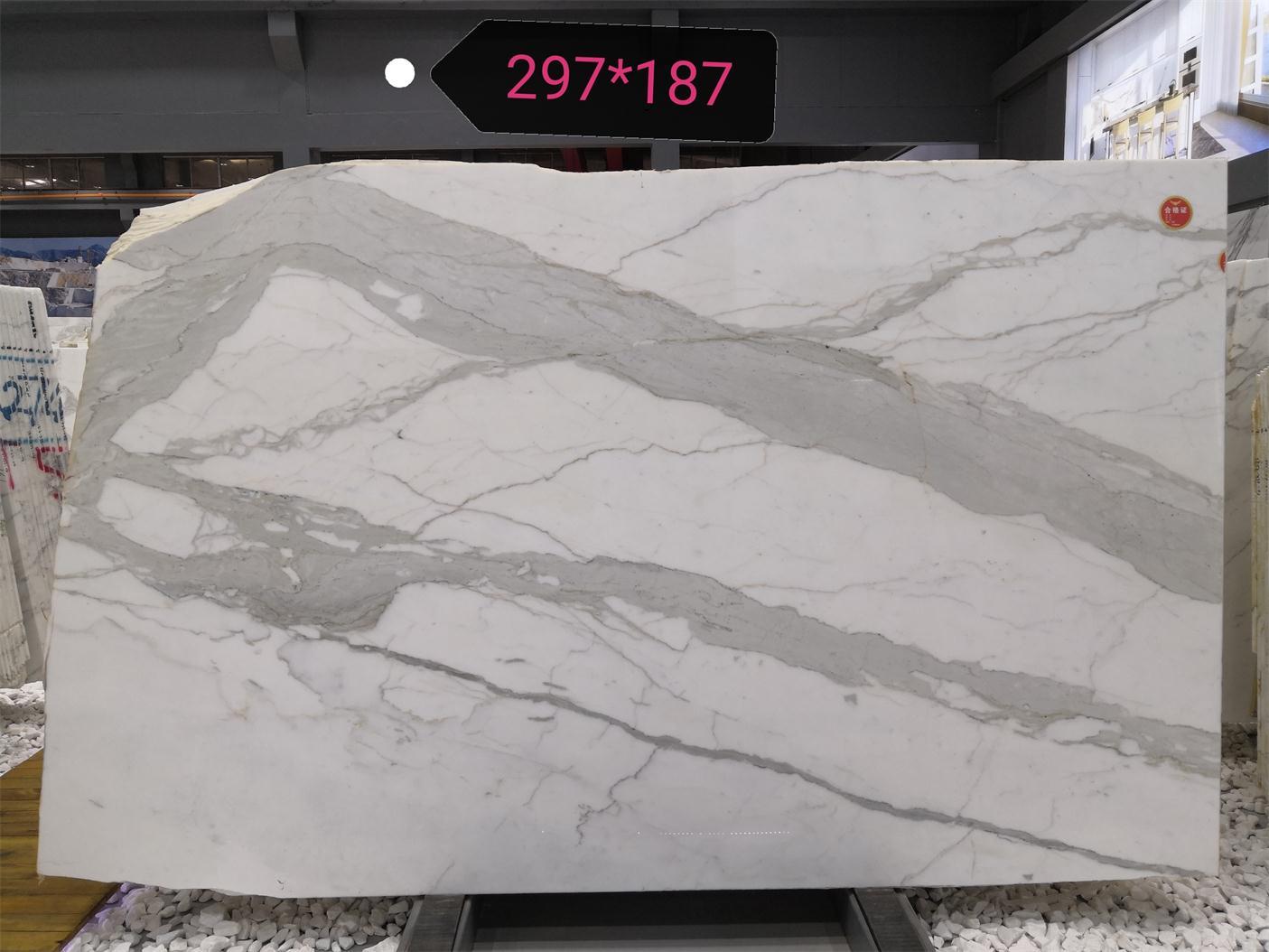 Calacatta White Slabs Polished Marble Slabs