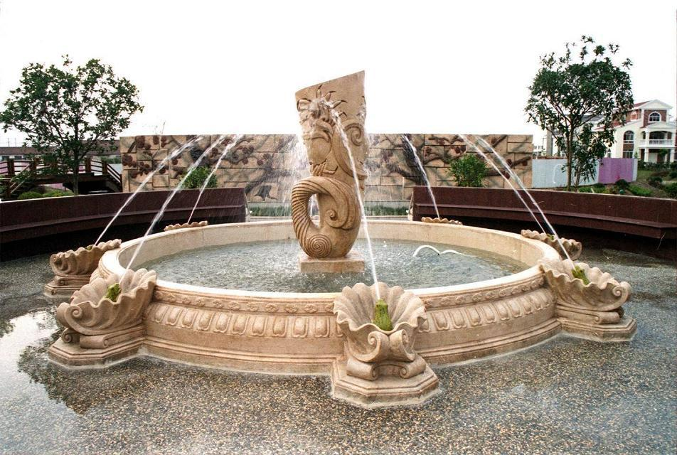 Hand carved marble sculpture stone fountain