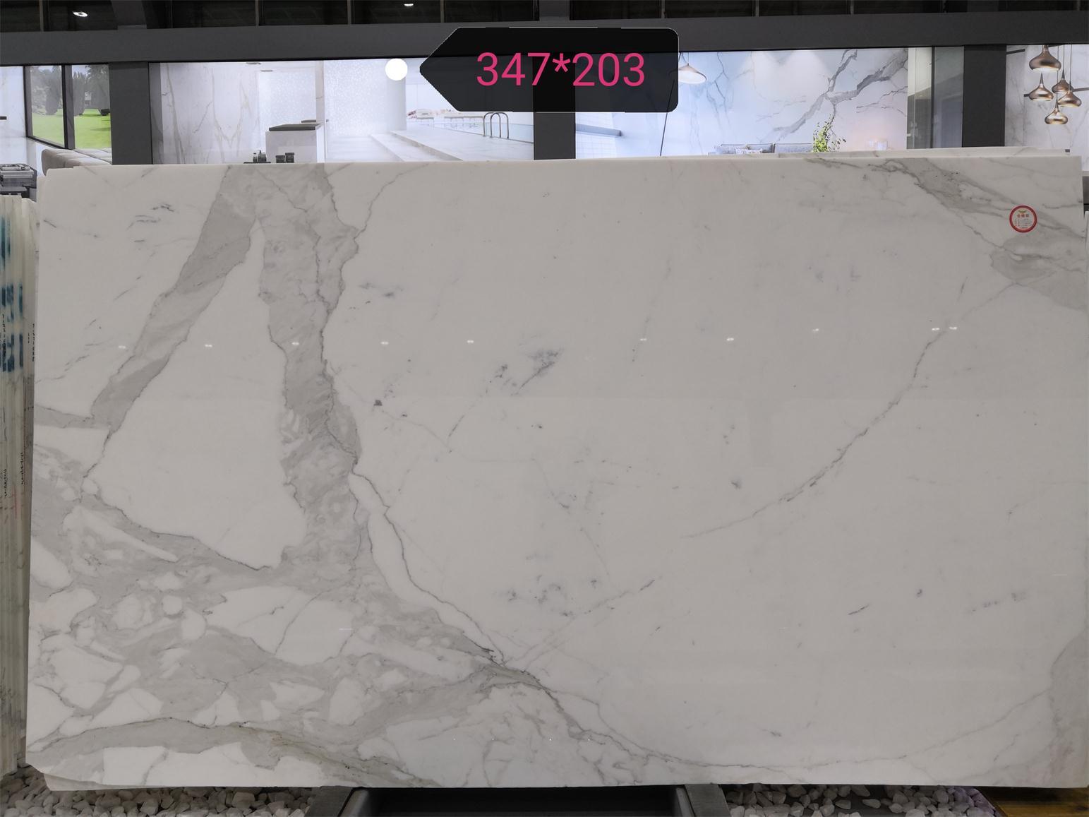 Polished White Marble Calacatta Marble Slabs