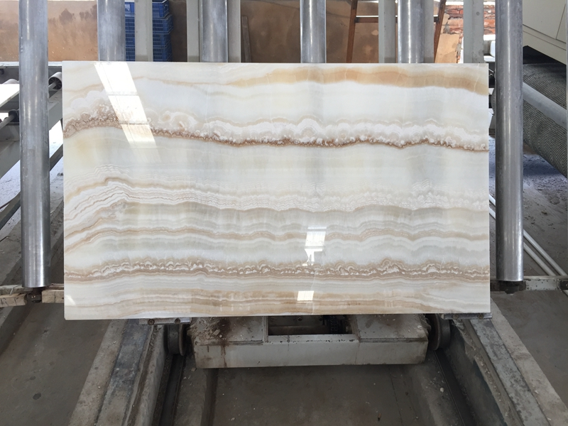 White Onyx Polished Marble Slab