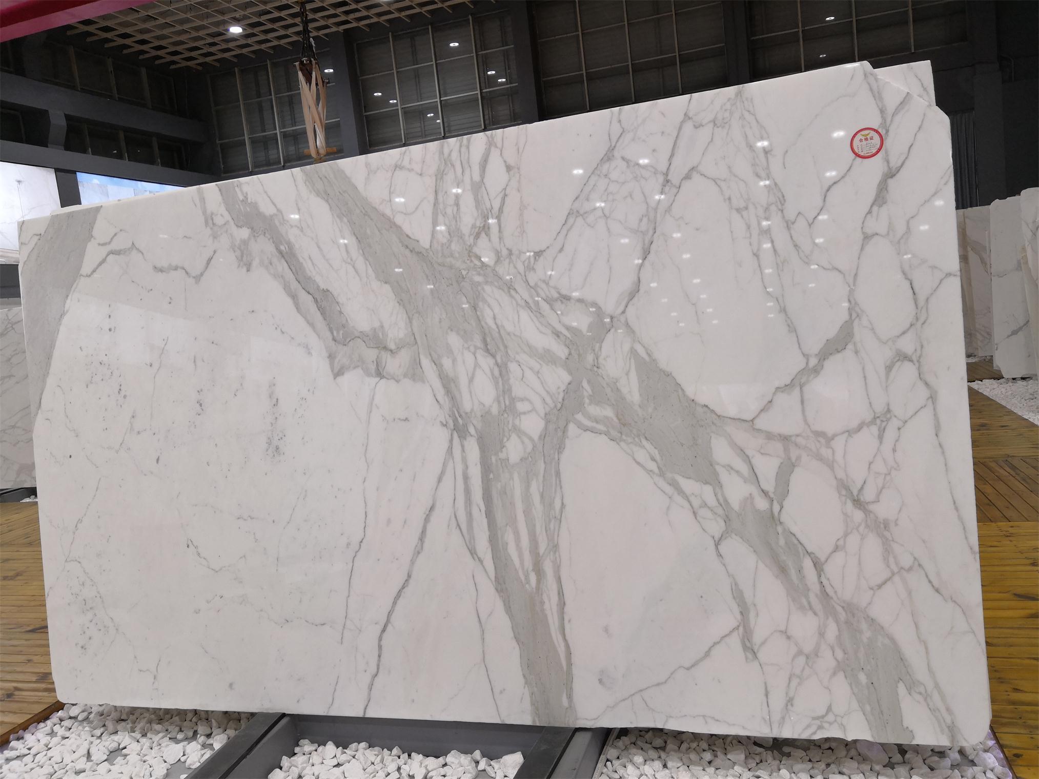 White Calacatta Marble-Slabs Polished White Marble Slabs