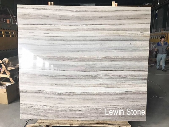 Wooden Crystal Polished Marble Slab
