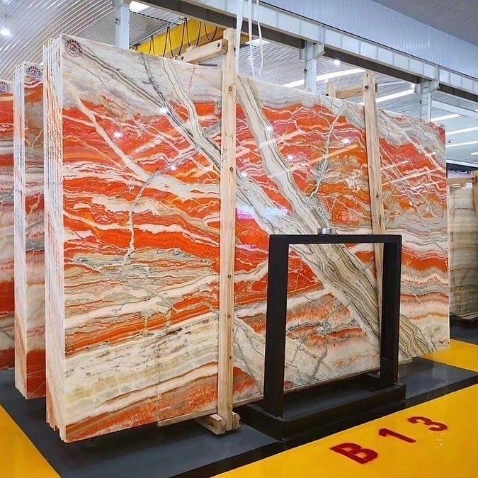 Orange Traonyx Polished Slabs