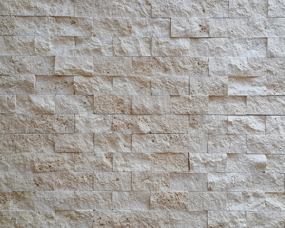 Turkish Ivory Travertine split face