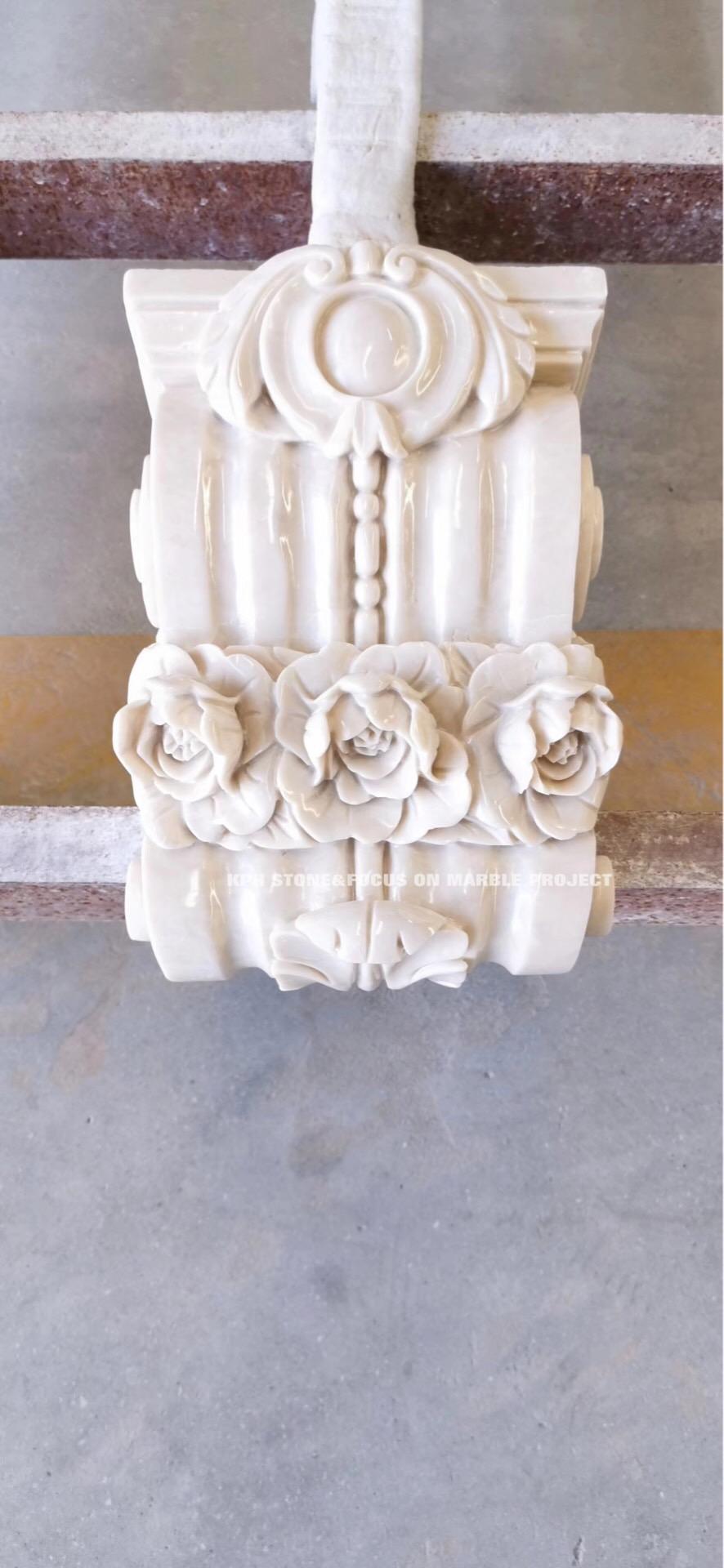 Fangshan Shiwo White Marble columns plinth obelisk