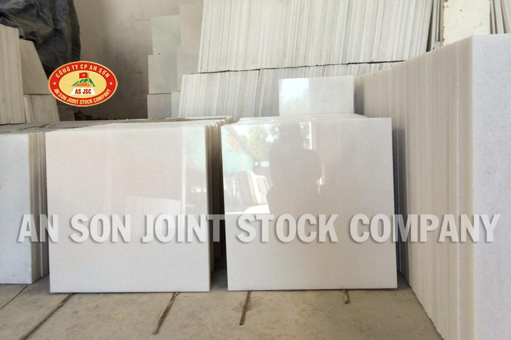 High Quality Pure White Marble 60x 60x2 cm